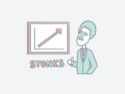 Crystallize Stonks Illustration vector statistics pastel insight illustration handdrawing front end flat developer dev client