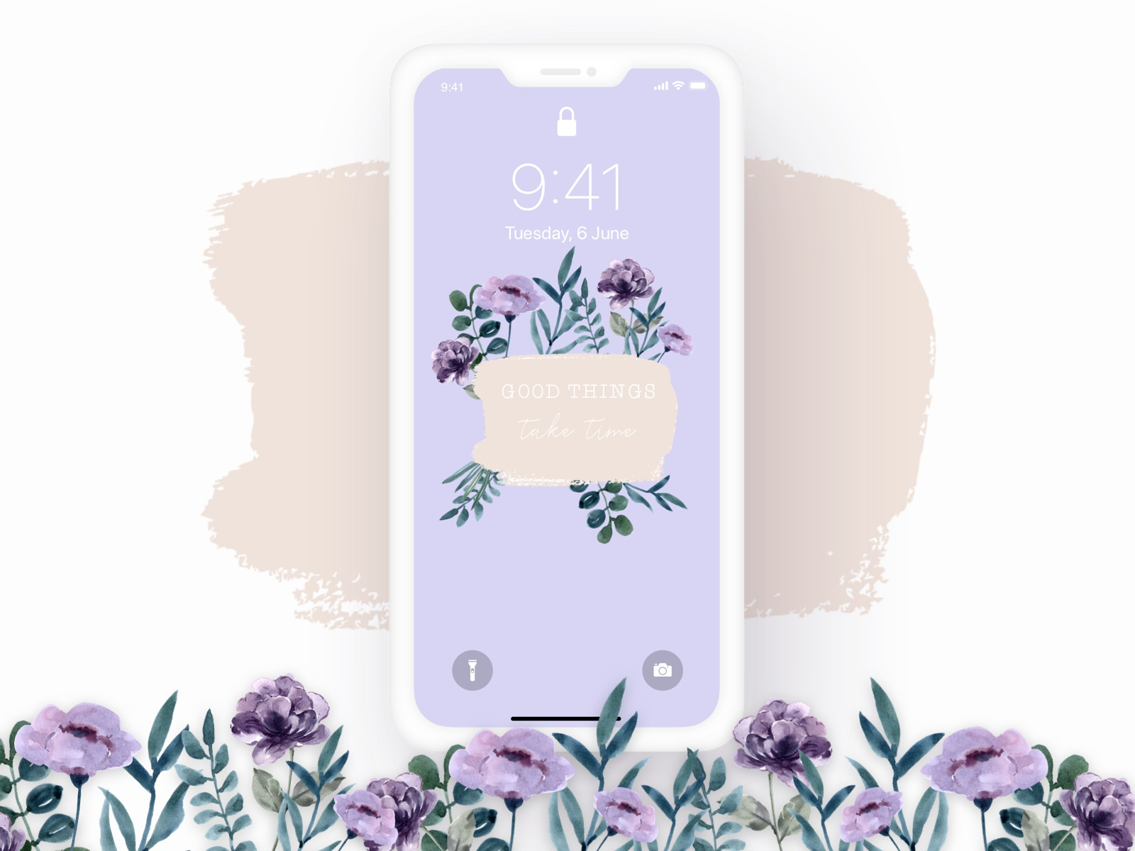 Wallpaper Watercolor Flowers By Cassandra Doux On Dribbble