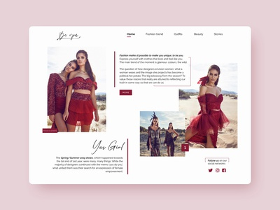 BeYou Fashion Concept WebSite