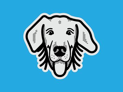Dawsey Toons dog smile puppy dog illustration golden retriever illustration cartoon dog