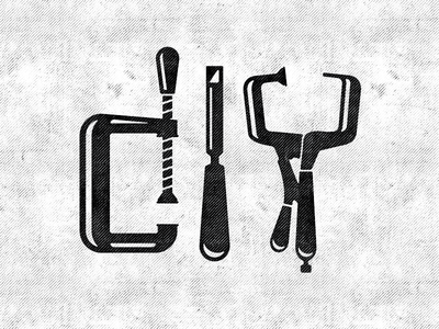 DIY minimal simple woodworking typography texture black and white chisel clamp tools projects do it yourself diy