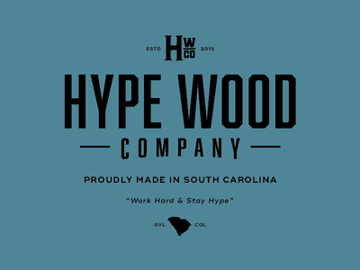 Hype Wood Co. greenville columbia south carolina sc woodworking hype wood typography shirt