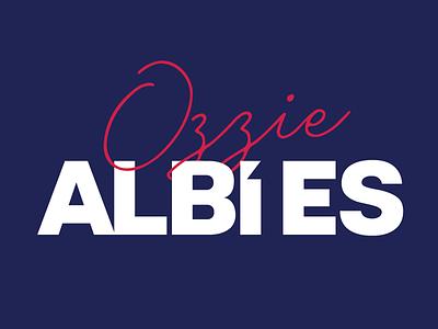 Ozzie Albies all-star typography baseball mlb atlanta braves ozzie albies