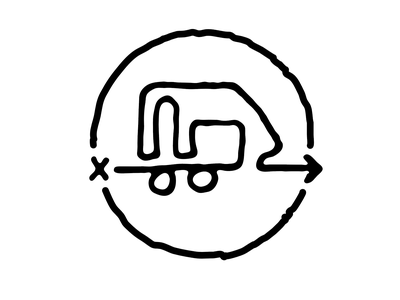 Journey to Minimum Logo branding illustration tiny home rv line drawing map path simple blog logo minimalism journey