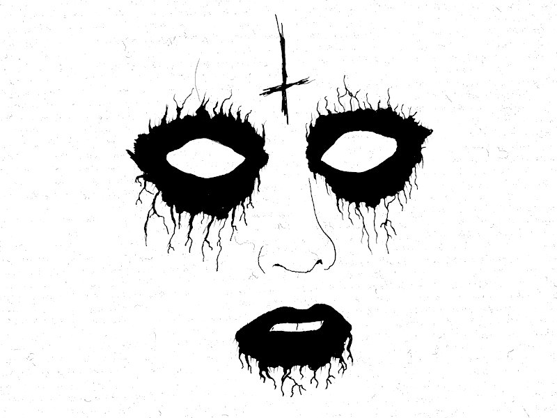 Corpse Paint For Girls By Cameron Ridenour On Dribbble