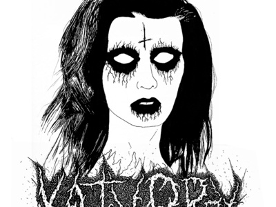 Katy Perry black metal corpse paint katy perry lettering typography logo pen metal ink illustration