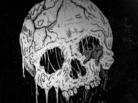 Inked Worm Skull