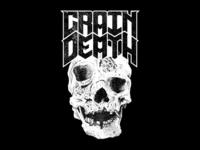 Grain Doom drawing pen death grain merch music detail logo skull metal ink illustration