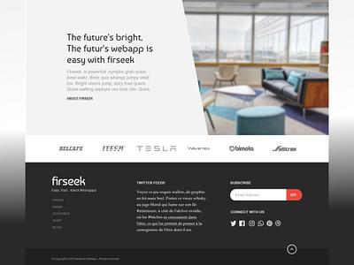 Firseek part 2 ux banner design image background slant footer design footer branding design illustration adobe xd homepage ui