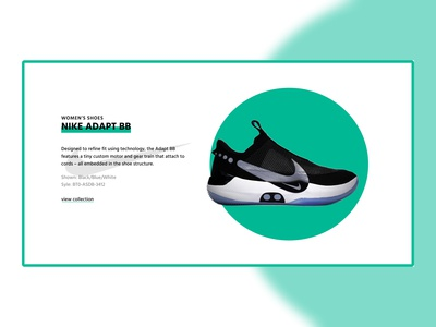 Nike adapt bb product section inspiration