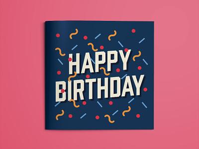 Happy birthday! typography vector design flat