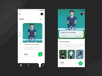 Daily practice of Shopping concept interface design