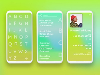 Colorful Contacts app concept
