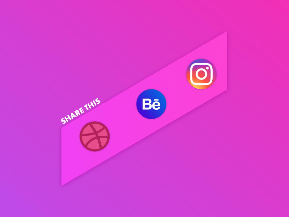 Daily UI Challenge #010 [Share Button] share button color website icon logo share webdesign web ux ui minimal illustration adobexd flat graphics design dailyui creative