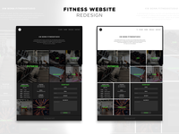 Fitness website redesign