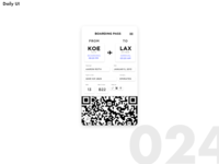 Daily UI Challenge #024 [Boarding Pass]