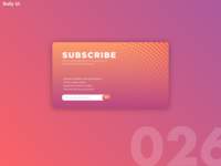 Daily UI Challenge #026 [Subscribe]
