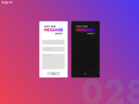 Daily UI Challenge #028   Contact Form