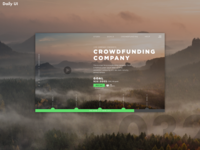 Daily UI Challenge #032   Crowdfunding Campagne
