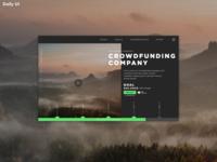 [Alternative] Daily UI Challenge #032   Crowdfunding Campagne