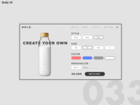 Daily UI Challenge #033   Customize Product