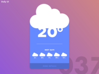 Daily UI Challenge #037 | Weather