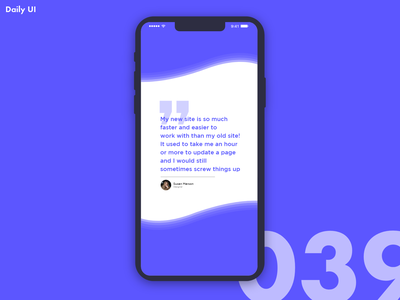 DailyUI Challenge #039 | Testimonial testimonial vector branding app testemonial website webdesign web ux ui minimal illustration adobexd flat graphics design dailyui creative