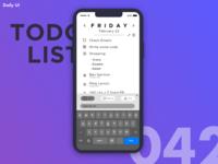 DailyUI Challenge #042 | ToDo List