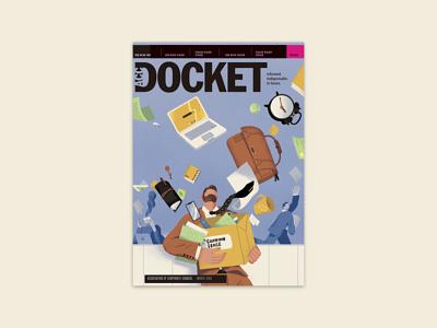 ACC Docket magazine May Issue cover art lifestyle magazine shanghai illustration