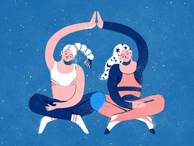 meditation time lifestyle meditation illustration
