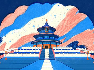 Temple of Heaven lifestyle shanghai branding illustration temple of heaven