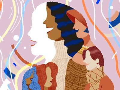 Empowering Conversations feminism women day lifestyle illustration