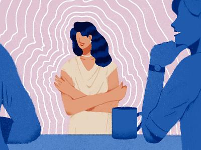 Empowering Conversations lifestyle office women empowerment women illustration