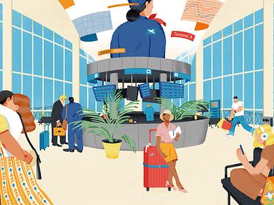 The Terminal-1 termial aripot lifestyle shanghai illustration