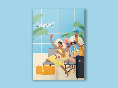 The Terminal-2 terminal airpot lifestyle shanghai illustration