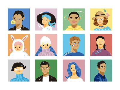 Portraits for GQ Magazine magazine portraits lifestyle shanghai gq illustration