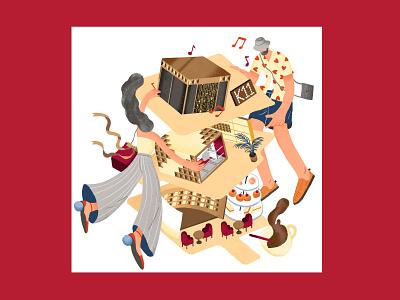 K11 Shanghai pop up illustration cover art magazine cartier branding lifestyle shanghai illustration