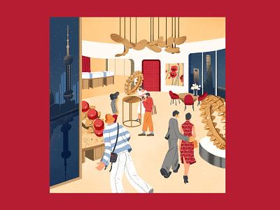 Cartier X Modern Weekly magazine cover art magazine ad branding magazine lifestyle shanghai illustration