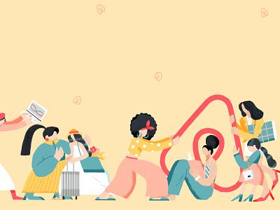 The Power of Women airbnb branding lifestyle shanghai illustration