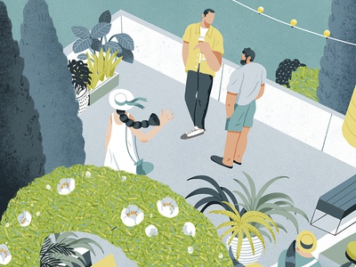 A Tipsy Summer cover art magazine lifestyle shanghai illustration