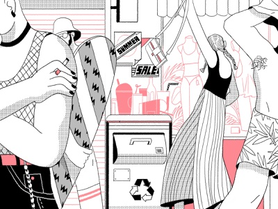 Summer Catch branding lifestyle illustration