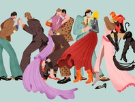 illustration for a fashion review on Gucci 2020 SS