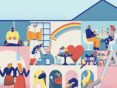 Be yourself home elle branding movie art design magazine shanghai lifestyle illustration