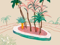 pink garden 1 china cover art shanghai lifestyle illustration