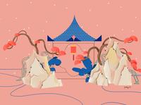 pink garden 2 chinaart china cover art shanghai lifestyle illustration