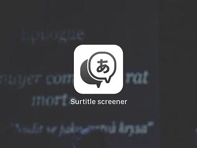 Subtitles for theatre | Mobile screening icon ux ui icon ios translate translation screening theatre supertitle surtitle