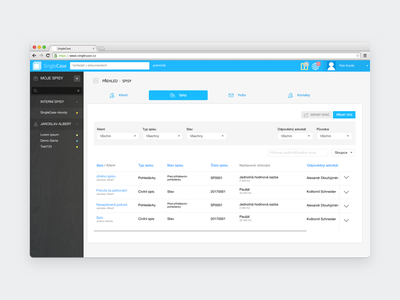 SingleCase   Filters for cases options filter saas website app uiux ux ui lawyer law singlecase