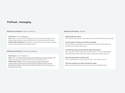 ProPosal   Messaging hcd messaging uiux ux ui saas freelance quote business proposal