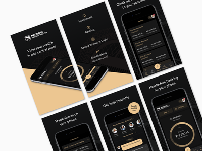 Nedbank Private Wealth @ Appstore appstore ios ui ux africa banking fintech bank