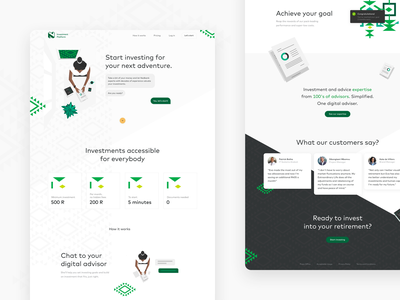 Robo Advisory for Nedbank finance bank fintech saving chatbot design strategy advice cape town south africa onboarding ia risk goal advisor investing investment product ui ux